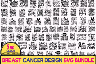 Print on Demand: 50 Breast Cancer SVG Bundle Graphic Crafts By BDB_Graphics