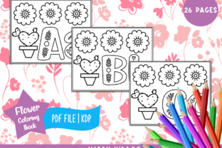 Alphabet Flower Coloring Book for Kids Graphic Coloring Pages & Books Kids By Happy Kiddos