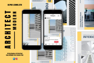 Architect Stories & Post Graphic UX and UI Kits By alphaleonis.studio