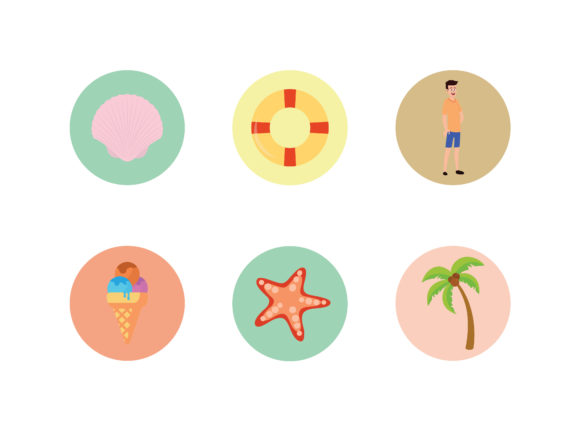 Beach Icon Buoy Vector Bundle Graphic Illustrations By printablesplazza