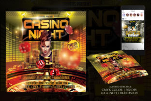 Casino Night Flyer Template Graphic Print Templates By Snipersden