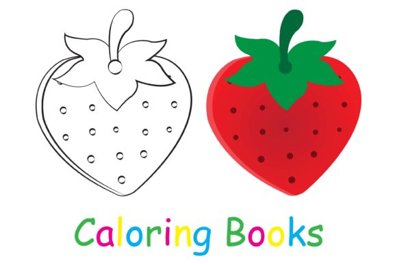 Coloring Book With Strawberry Pictures (Graphic) By Kidscorner · Creative  Fabrica
