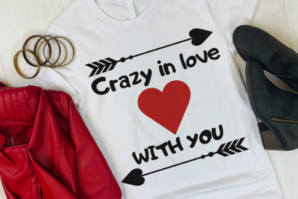 Crazy in Love with You Valentine Svg Graphic Print Templates By CuteShopClipArt
