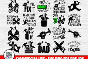 Print on Demand: Dad SVG Bundle, Fathers Day Svg Shirts Graphic Crafts By nibaartstudio