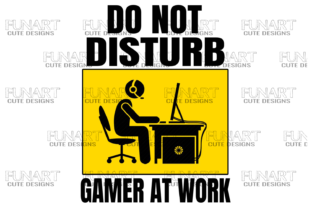 Do Not Disturb Gamer at Work, Good Vibes Gráfico Ilustraciones Por Fundesings