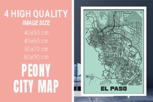 EL Paso - United States Peony City Map Graphic Photos By pacitymap