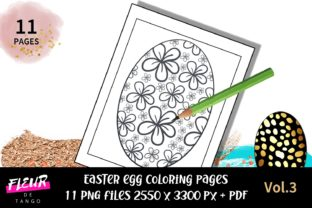 Print on Demand: Easter Egg Coloring Pages Vol.3 Graphic Coloring Pages & Books Adults By Fleur de Tango