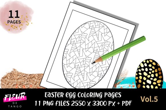 Print on Demand: Easter Egg Coloring Pages Vol.5 Graphic Coloring Pages & Books By Fleur de Tango