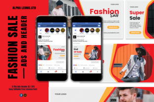 Facebook Fashion Ads Header Graphic UX and UI Kits By alphaleonis.studio