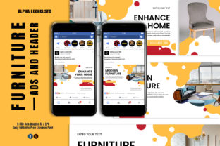 Facebook Furniture Ads Header Graphic UX and UI Kits By alphaleonis.studio