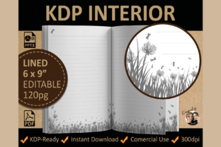 Floral Lined Meadow Interior Template Graphic KDP Interiors By KermeliaDesigns