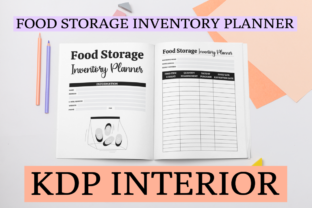 Print on Demand: Food Storage Inventory Planner | KDP Graphic KDP Interiors By KDP Mastermind
