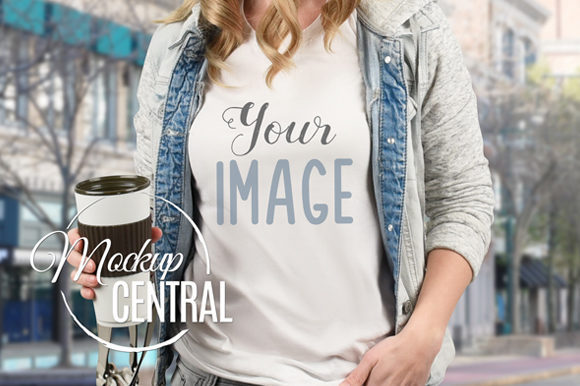Girl T-Shirt Mockup, Shirt Mock Up JPG Graphic Product Mockups By Mockup Central