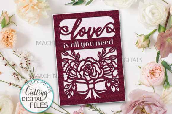 I Love You Valentines Day Card Svg Cut Graphic Crafts By Cornelia