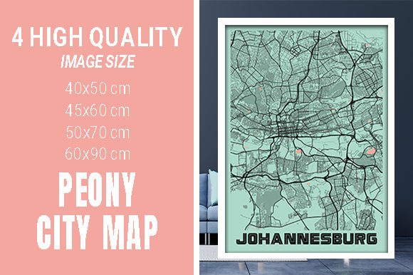Johannesburg - South Africa Peony City Graphic Photos By pacitymap