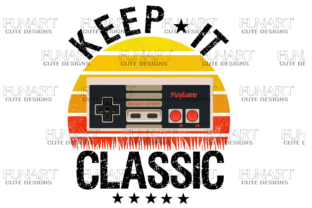 Keep It Classic , Gamers , Gaming Vibes Gráfico Ilustraciones Por Fundesings