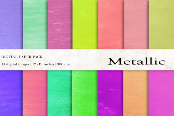 Metallic Digital Papers Graphic Backgrounds By BonaDesigns