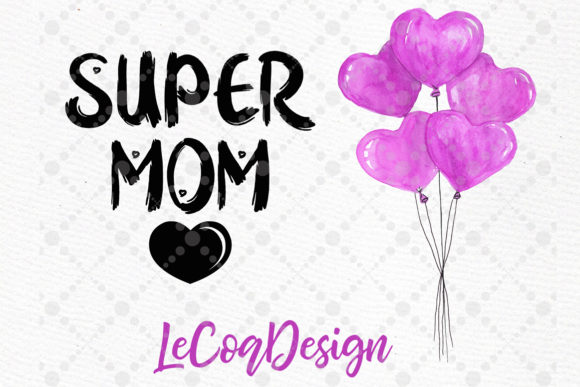 Mother and Children Mother's Day Graphic Design