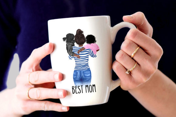 Mother and Children Mother's Day Graphic Design Item