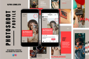 Photoshoot Stories & Post Graphic UX and UI Kits By alphaleonis.studio
