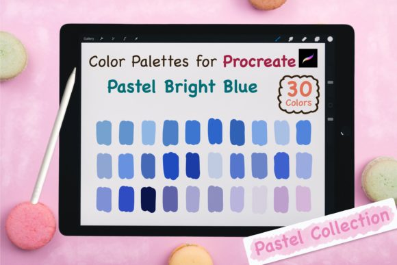 Procreate Color Palette-PastelBrightBlue Graphic Add-ons By jennythip