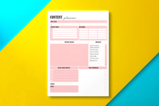 Social Media Content Planner Graphic KDP Interiors By Nickkey Nick