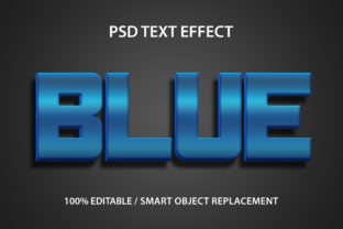 Text Effect Blue Premium Graphic Graphic Templates By yosiduck