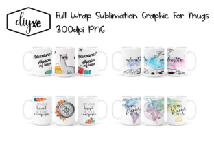 Travel Sublimation Graphic for Mugs Graphic Illustrations By Sheryl Holst