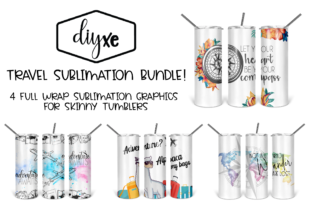 Travel Sublimation Graphic for Tumbler Graphic Illustrations By Sheryl Holst