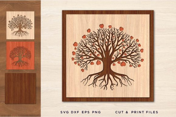 Tree of Life, Laser Cut Files Graphic 3D SVG By 2dooart