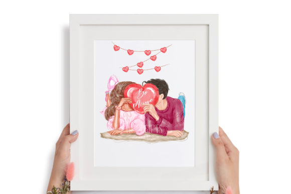 Valentine's Day Clipart, Love Couple Graphic Preview
