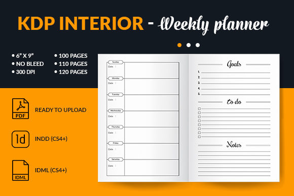 Print on Demand: Weekly Planner Interior for Kdp Amazon Graphic KDP Interiors By mstartwork