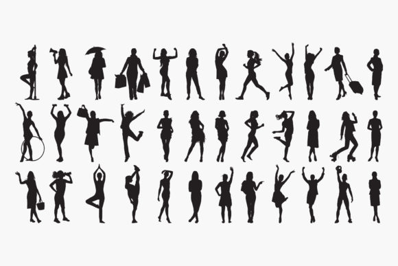 Women Silhouettes Graphic Graphic Templates By octopusgraphic