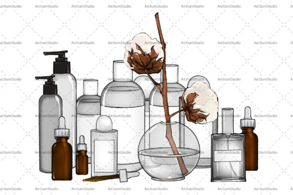 Print on Demand: Beauty Cosmetic Medical Skin Care Graphic Objects By arctiumstudio