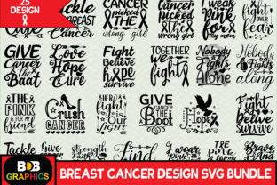 Print on Demand: Breast Cancer Svg Bundle Graphic Graphic Templates By BDB_Graphics