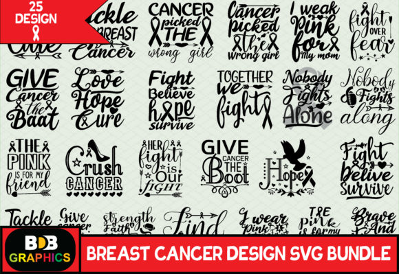 Breast Cancer Svg Bundle Graphic Graphic Templates By BDB_Graphics