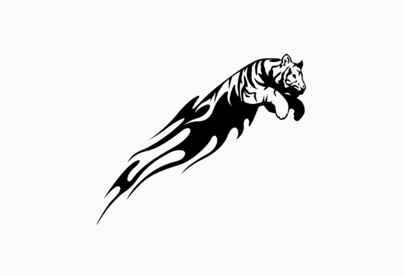 Print on Demand: The Tiger Jumps Graphic Illustrations By nisakaart