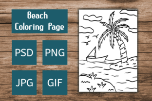 Print on Demand: Beach Coloring Page Graphic Coloring Pages & Books Kids By Dieza Art