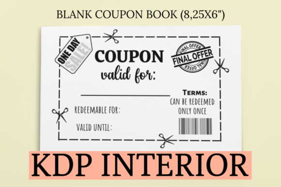 Print on Demand: Blank Coupon Book | KDP Interior Graphic KDP Interiors By KDP Mastermind