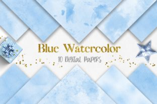 Blue Watercolor Texture Digital Papers Graphic Backgrounds By PinkPearly