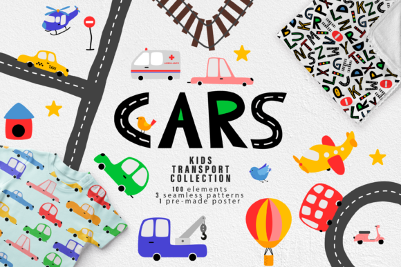 Cars Svg. City Clipart Svg, Png, Jpg. Graphic Illustrations By CuteShopClipArt