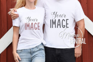 Couple's Matching Love T-Shirt Mockup Graphic Product Mockups By Mockup Central