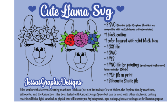 Print on Demand: Cute Llama SVG Graphic Crafts By JessasGraphicDesgins