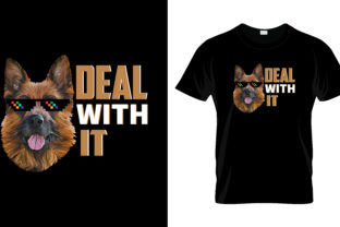 Print on Demand: Deal with It T Shirt Design Graphic Print Templates By merchbundle