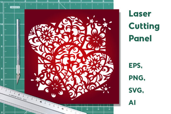 Print on Demand: Decorative Panel, Cut Template Graphic Crafts By YAZZIK