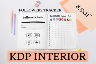 Print on Demand: Followers Tracker | KDP Interior Graphic KDP Interiors By KDP Mastermind