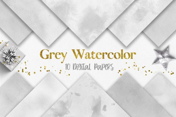 Grey Watercolor Texture Digital Papers Graphic Backgrounds By PinkPearly