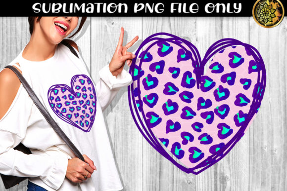 Print on Demand: Heart Leopard Sublimation PNG Clipart 7 Graphic Print Templates By V-Design Creator