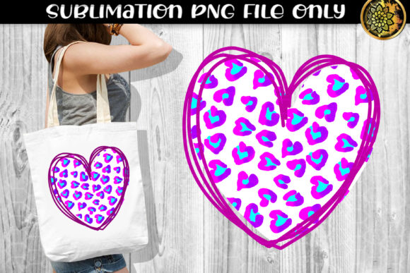 Print on Demand: Heart Leopard Sublimation PNG Clipart 9 Graphic Print Templates By V-Design Creator