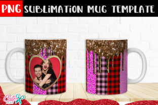 Heart Frame Sublimation Mug Graphic Print Templates By Cute files